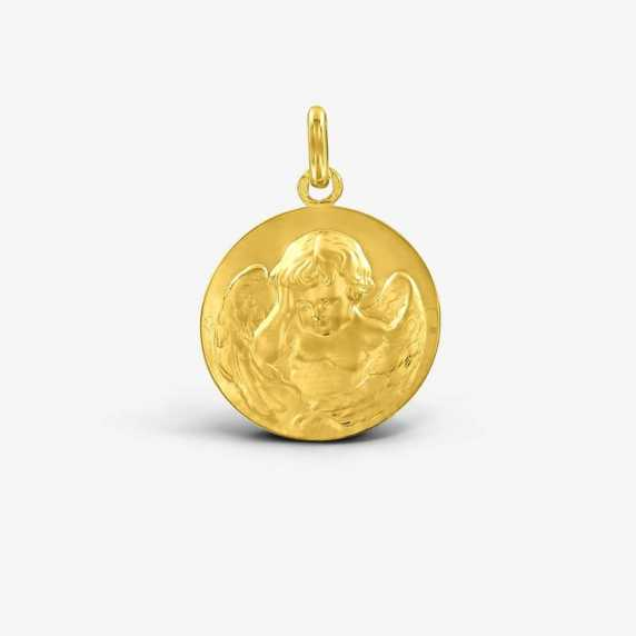 Médaille de baptême Ange Penseur