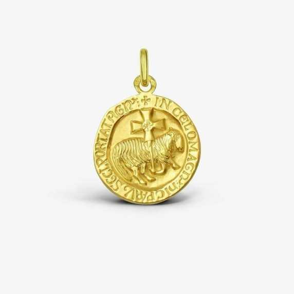 Médaille de baptême Agneau de Cluny
