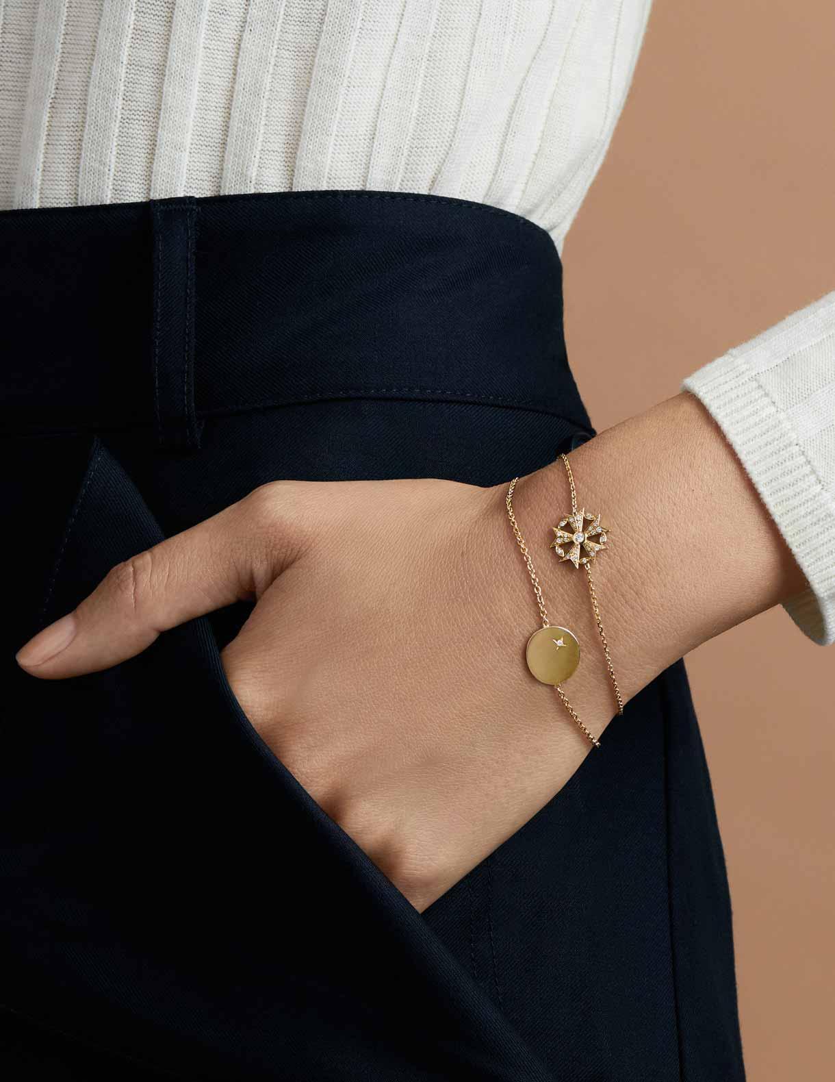 Bracelet or et argent Arthus Bertrand
