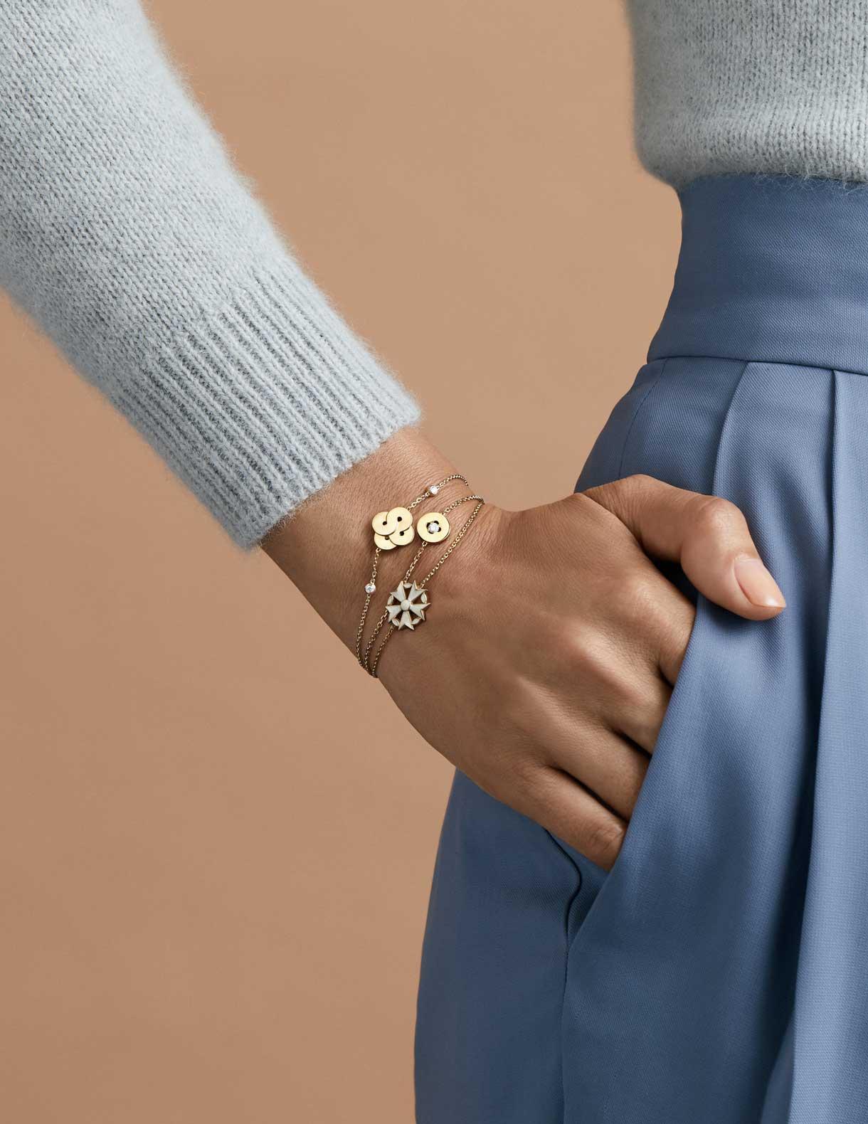 Bracelets or et diamants argent Arthus Bertrand