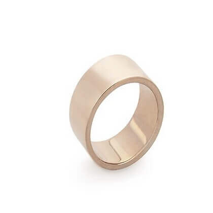 Bague Argent Finition Or Rose - 8 mm - Jazz