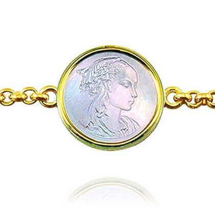 Bracelet de naissance Vierge Adorazione Or jaune 18 carats - Vierge Adorazione