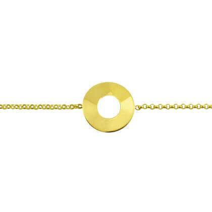 Bracelet de naissance pastille Or jaune 18 carats - Pastille