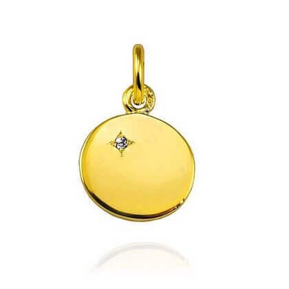 """Pendentif """"Ma Petite Etoile"""" or jaune"""