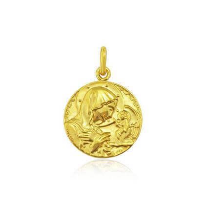 Médaille Annonciation Or jaune 18 carats - 18 mm - Annonciation