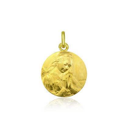 Vierge de Donatello 18 mm or jaune