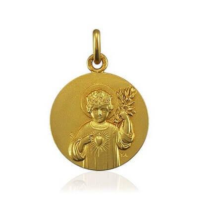 Enfant Jésus 18 mm or jaune