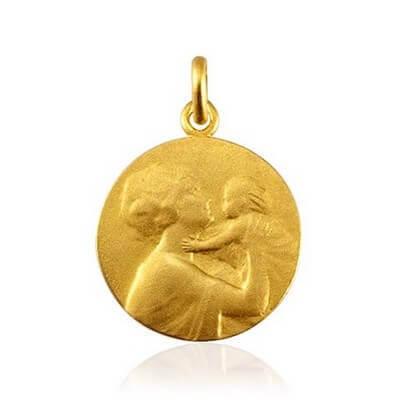 Médaille de la Maternité 18 mm or jaune