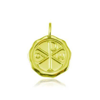 Monogramme du Christ 18 mm or jaune