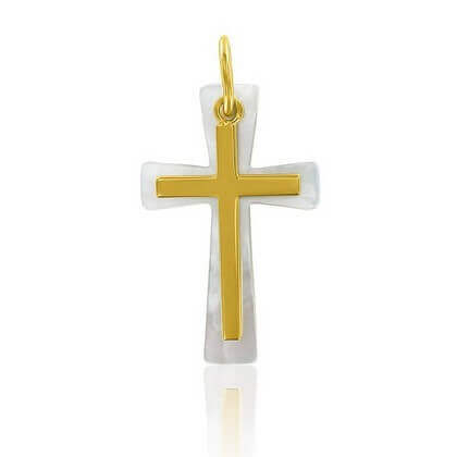 Croix Evasée Mobile Nacre