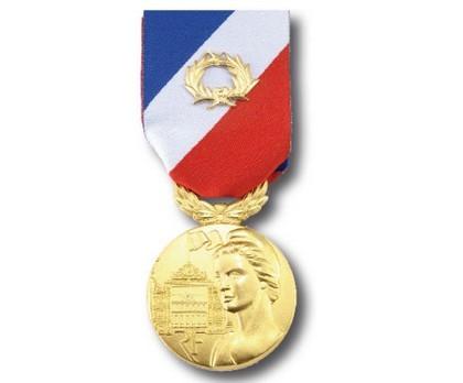 Médaille Sécurité Intérieure échelon or