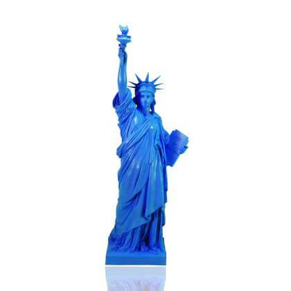 Statue de la Liberté Bleue