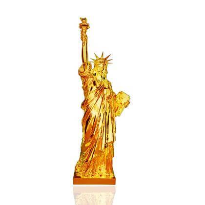 Statue de la Liberté Orange chromé