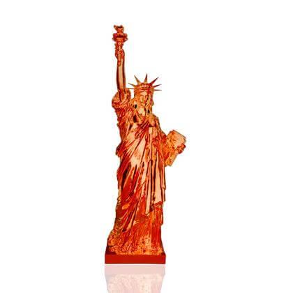 Statue de la Liberté Rouge chromé