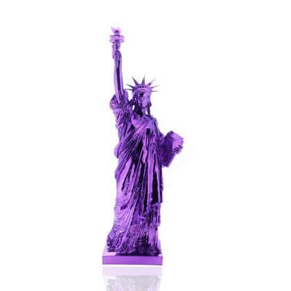 Statue de la Liberté Violet chromé