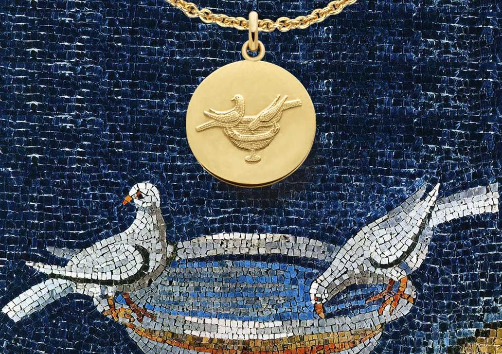 'Médailles de baptême : autres symboles
