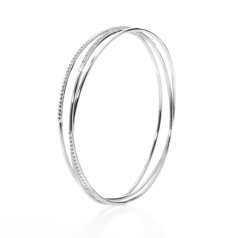 bracelet trois tours or blanc et diamants fancy grey 0 27 carat 65 mm. Black Bedroom Furniture Sets. Home Design Ideas